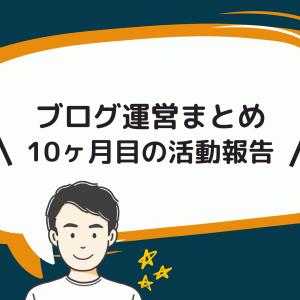 【ブログ運営】10ヶ月目の活動報告まとめ【PV / 収益 / 記事数】