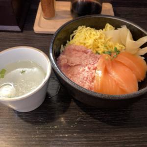 吉祥寺ハモニカ横丁の「まぐろのなかだ屋」で二食丼