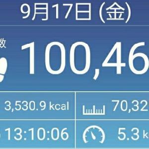 1日 10万歩達成しました! ベスタ10万歩への道 NO.11