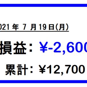 【26日目】日経続落!シンクレイヤ・小松ウオール!