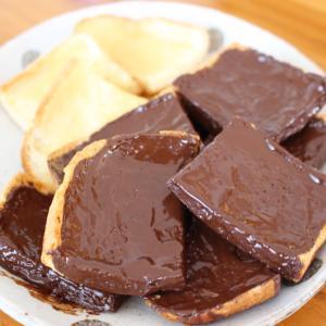 朝食やオヤツに。チョコ、きな粉、蜂蜜の簡単ラスク。