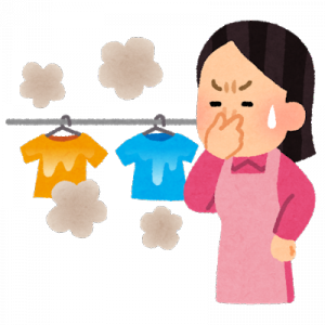洗濯物から酸っぱいにおいがしたら  [754019341]