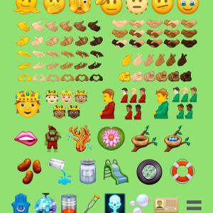 Unicodeに新しい絵文字追加 妊娠したオッサン(肌色違い6種)、アッカリーン、顔が溶けるなど