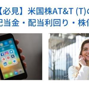 【必見】米国株AT&T(T)の配当金・権利確定日・株価