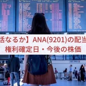 【復活なるか】ANA(9201)の配当金・権利確定日・今後の株価