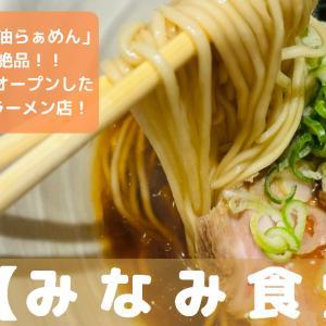 奈良市のラーメン屋「みなみ食堂」のメニューや食べた感想は?
