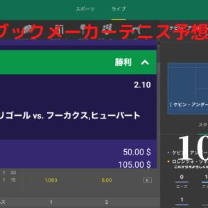 ブックメーカー予想テニス【10/15】