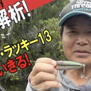 ヒロ内藤さんがベビーラッキー13を紹介。ダーターは動かしていて楽しいですよね。