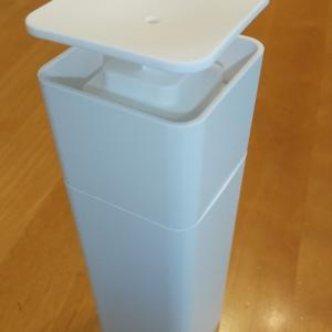 山崎実業TOWER 片手で出せるディスペンサーに食器用洗剤を入れてみた