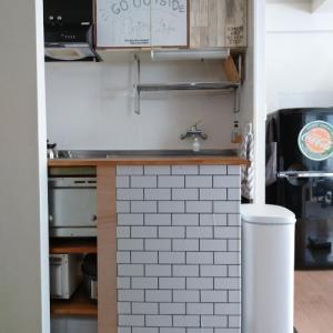 キッチンスペースを広げる実験②、ゴミ箱は奥でも大丈夫?
