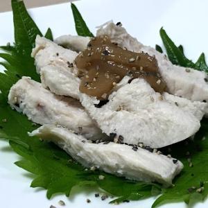 茹で鶏の梅肉胡椒
