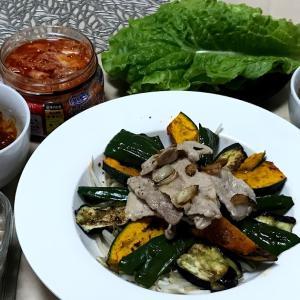 グリル野菜のサンチュ味噌巻き