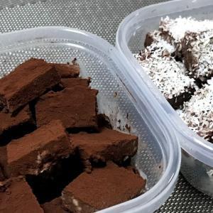 ひと口お豆腐チョコ:冷凍ストック