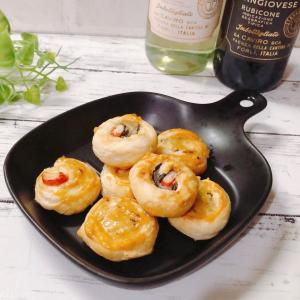 カニカマのわさび海苔チーズパイ 冷凍パイシートで簡単! イタリアンワインに合うおつまみ