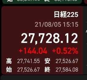2021年8月5日の株日記/損切りの準備を整える