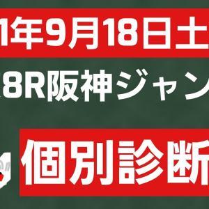 [競馬予想]2021年9月18日土曜日中京8R阪神ジャンプステークスの個別診断です。