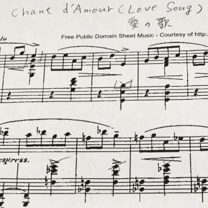 パデレフスキの小品「愛の歌」ステキです♪