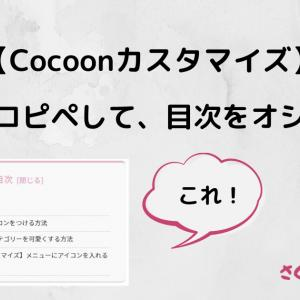 【Cocoonカスタマイズ】コードをコピペして、目次をオシャレに!