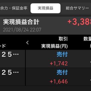8/24 ママ業の傍ら少しだけ利確
