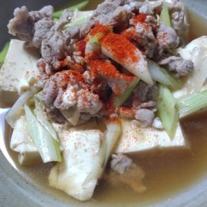 切り落とし、細切れ、豚肉の肉豆腐