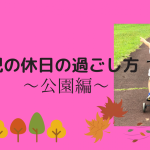 【休日】4歳男児との過ごし方~公園編~