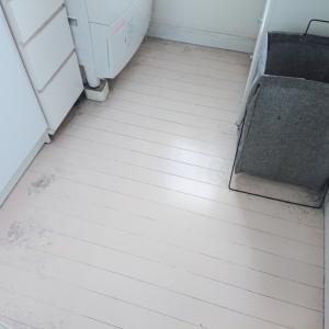夫への怒り爆発した洗面所床掃除
