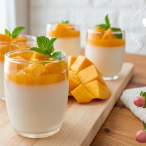 とろける美味しさ♪ゴロゴロマンゴーと杏仁豆腐のレシピ・作り方