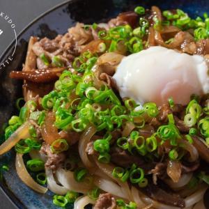 麺に絡む甘辛タレ♪汁なし牛すきうどんのレシピ・作り方