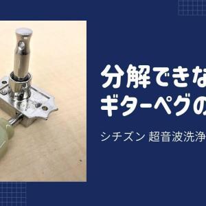 分解できないギターペグの洗浄|超音波洗浄器 SWT710