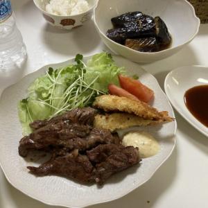 エビフライと焼肉