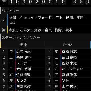 6/27 対阪神 ○8-3 天にも昇る