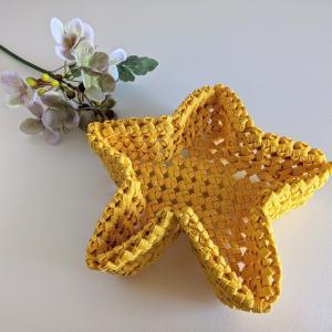 石畳編みの星型かご、作ってみました【ハンドメイド】