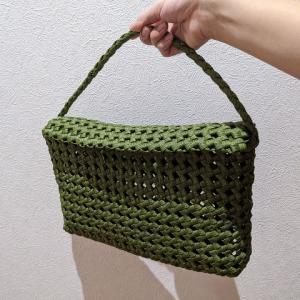 粗め石畳編みでタブレットバッグ作ったら失敗しました【ハンドメイド】