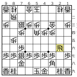 角換わり棒銀対△5四角ー▲3八角の変化⑥