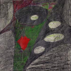 緑の騎士(色鉛筆作品紹介613)と アーサー王物語あれこれ