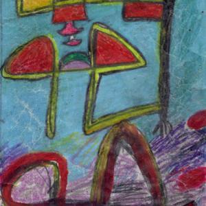 空に浮かぶもの(色鉛筆作品615)と 制作における語録