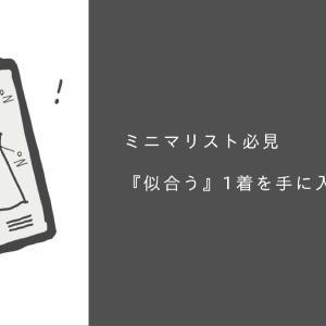 """【服選び】""""似合う""""確実な1着を手に入れる診断方法(ミニマリスト必見) 後編"""