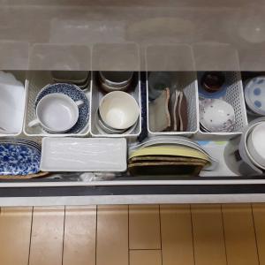 片付け 食器を見直したら食器棚を処分できました。