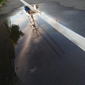 雨上がりの帰り道