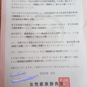 韓国で多文化家族(タムナカジォン)実態調査を受けました。