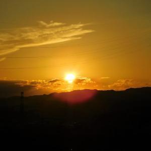 久しぶりに夕陽を
