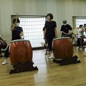 今日は太鼓の練習日