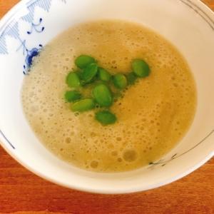 乳製品なし!簡単!夏野菜ポタージュ「ホットクックで作るカプチーノ仕立てのなすのポタージュ」