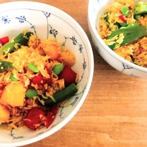 スパイスと香り米の重なる芳香を楽しむ、ヘルシーベジメニュー「ホットクックで作るオクラとじゃがいもとミニトマトのスパイスビリヤニ」