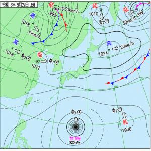 危ない台風16号