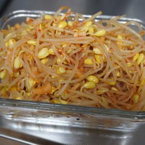 【韓国料理レシピ】しっかり辛めのコンナムル(豆もやしナムル)
