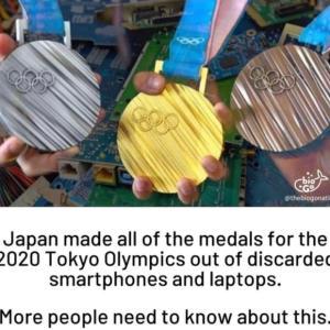 外国のニュースで東京オリンピックのメダルについて知る。。。