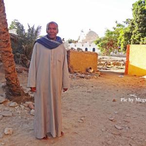 ヌビア人の住む村 & 日干レンガの家並み in エジプト