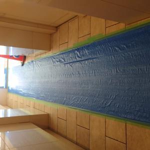 マンション共用廊下の床工事
