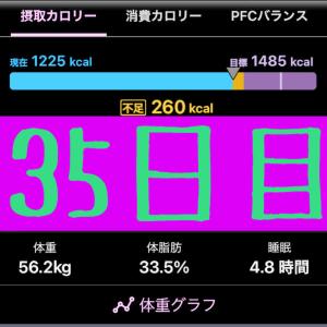 実録!ずぼらダイエット35日目